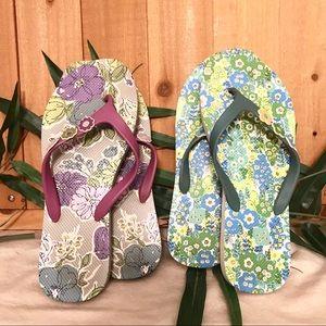 Vera Bradley English Meadows Watercolor Flip Flops